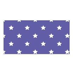 Stars Pattern Satin Shawl by Valentinaart