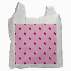 Stars Pattern Recycle Bag (one Side) by Valentinaart