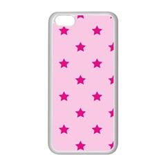 Stars Pattern Apple Iphone 5c Seamless Case (white) by Valentinaart