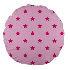 Stars Pattern Large 18  Premium Flano Round Cushions by Valentinaart