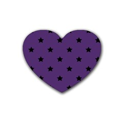 Stars Pattern Heart Coaster (4 Pack)  by Valentinaart