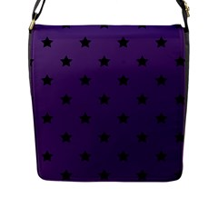 Stars Pattern Flap Messenger Bag (l)  by Valentinaart