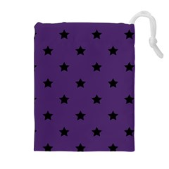 Stars Pattern Drawstring Pouches (extra Large) by Valentinaart