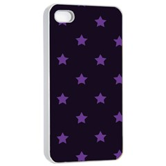 Stars Pattern Apple Iphone 4/4s Seamless Case (white) by Valentinaart
