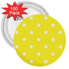 Stars Pattern 3  Buttons (100 Pack)  by Valentinaart