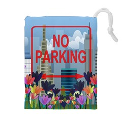 No Parking  Drawstring Pouches (extra Large) by Valentinaart