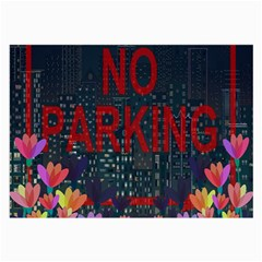 No Parking  Large Glasses Cloth (2 Side) by Valentinaart