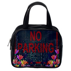 No Parking  Classic Handbags (one Side) by Valentinaart