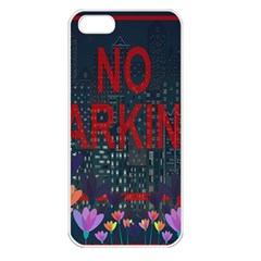 No Parking  Apple Iphone 5 Seamless Case (white) by Valentinaart