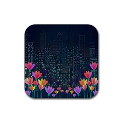 Urban Nature Rubber Coaster (square)  by Valentinaart