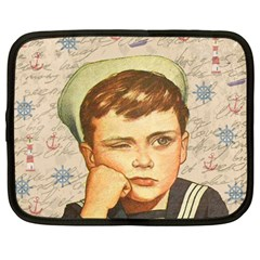Little Sailor  Netbook Case (large) by Valentinaart