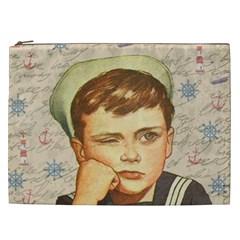 Little Sailor  Cosmetic Bag (xxl)  by Valentinaart