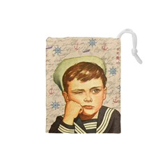 Little Sailor  Drawstring Pouches (small)  by Valentinaart