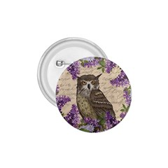 Vintage Owl And Lilac 1 75  Buttons by Valentinaart