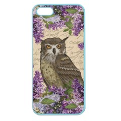 Vintage Owl And Lilac Apple Seamless Iphone 5 Case (color) by Valentinaart
