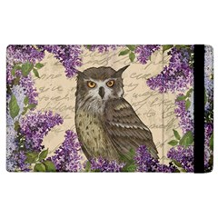 Vintage Owl And Lilac Apple Ipad 3/4 Flip Case by Valentinaart