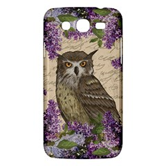 Vintage Owl And Lilac Samsung Galaxy Mega 5 8 I9152 Hardshell Case  by Valentinaart