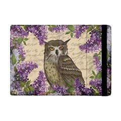 Vintage Owl And Lilac Ipad Mini 2 Flip Cases by Valentinaart