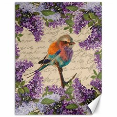 Vintage Bird And Lilac Canvas 12  X 16   by Valentinaart