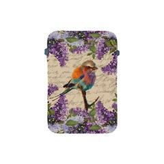 Vintage Bird And Lilac Apple Ipad Mini Protective Soft Cases by Valentinaart