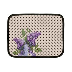 Vintage Lilac Netbook Case (small)  by Valentinaart