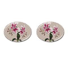 Vintage Flowers Cufflinks (oval) by Valentinaart