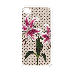 Vintage Flowers Apple Iphone 4 Case (white) by Valentinaart