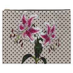 Vintage Flowers Cosmetic Bag (xxxl)  by Valentinaart