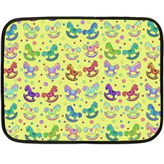 Toys Pattern Fleece Blanket (mini) by Valentinaart