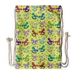 Toys Pattern Drawstring Bag (large) by Valentinaart