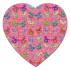 Toys Pattern Jigsaw Puzzle (heart) by Valentinaart