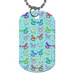 Toys Pattern Dog Tag (two Sides) by Valentinaart