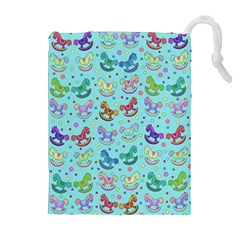 Toys Pattern Drawstring Pouches (extra Large) by Valentinaart
