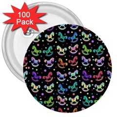 Toys Pattern 3  Buttons (100 Pack)  by Valentinaart