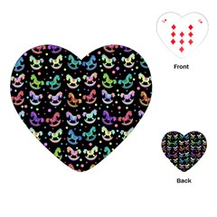 Toys Pattern Playing Cards (heart)  by Valentinaart