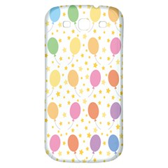 Balloon Star Rainbow Samsung Galaxy S3 S Iii Classic Hardshell Back Case by Mariart