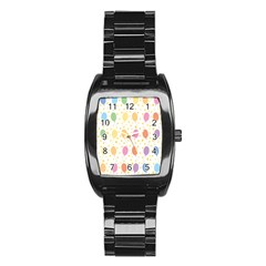 Balloon Star Rainbow Stainless Steel Barrel Watch by Mariart