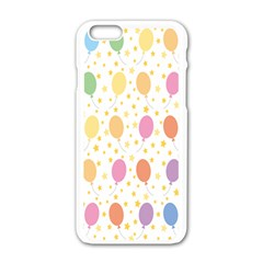 Balloon Star Rainbow Apple Iphone 6/6s White Enamel Case by Mariart