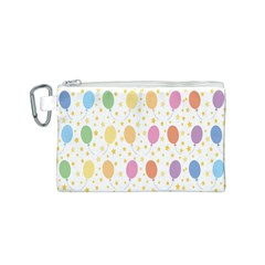 Balloon Star Rainbow Canvas Cosmetic Bag (s) by Mariart