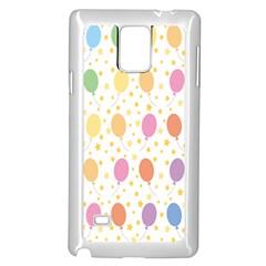 Balloon Star Rainbow Samsung Galaxy Note 4 Case (white) by Mariart