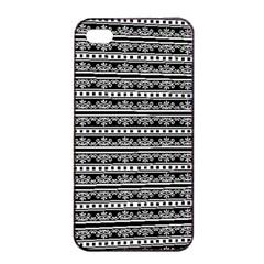 Pattern Apple Iphone 4/4s Seamless Case (black) by Valentinaart