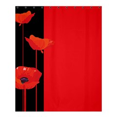 Flower Floral Red Back Sakura Shower Curtain 60  X 72  (medium)  by Mariart