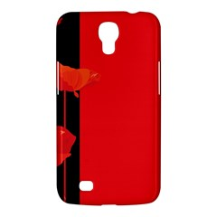 Flower Floral Red Back Sakura Samsung Galaxy Mega 6 3  I9200 Hardshell Case by Mariart