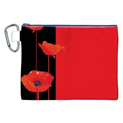 Flower Floral Red Back Sakura Canvas Cosmetic Bag (xxl) by Mariart
