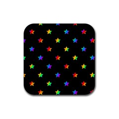 Stars Pattern Rubber Square Coaster (4 Pack)  by Valentinaart