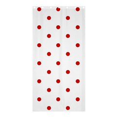 Flower Floral Polka Dot Orange Shower Curtain 36  X 72  (stall)  by Mariart
