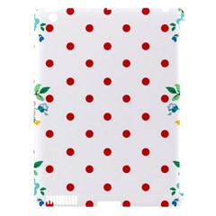 Flower Floral Polka Dot Orange Apple Ipad 3/4 Hardshell Case (compatible With Smart Cover) by Mariart