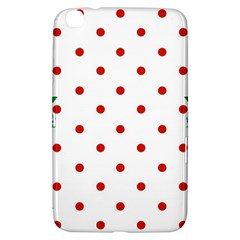 Flower Floral Polka Dot Orange Samsung Galaxy Tab 3 (8 ) T3100 Hardshell Case  by Mariart