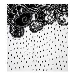 Batik Rain Black Flower Spot Shower Curtain 66  X 72  (large)  by Mariart
