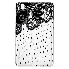 Batik Rain Black Flower Spot Samsung Galaxy Tab Pro 8 4 Hardshell Case by Mariart